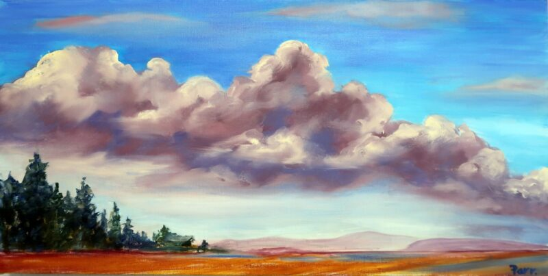 painting - Clouds over Rathtrevor Beach by Sue Parr
